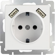 Розетка  WL01-SKGS-USBx2-IP20