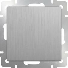 Выключатель Cеребряный рифленый WL09-SW-1G
