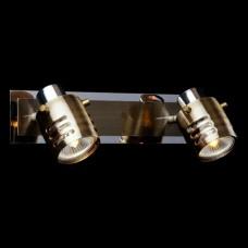 Спот 23463 23463/2 хром/античная бронза