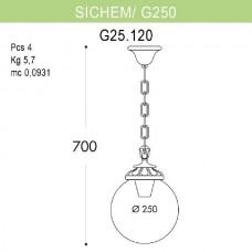 Уличный подвесной светильник Globe 250 G25.120.000.BYE27
