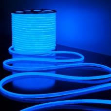 Светодиодная лента Гибкий неон 220V 9,6W 144Led 2835 IP67 круглый синий, 50 м