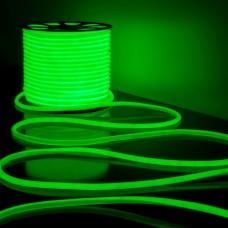 Светодиодная лента Гибкий неон 220V 9,6W 144Led 2835 IP67 круглый зеленый, 50 м